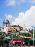 Kek Lok Si tempel, den kinesiska templet, Georgetown, Penang, Malaysia royaltyfri bild