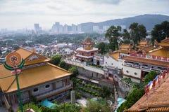 Kek Lok Si tempel i George Town, Penang, Malaysia arkivbild