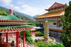 Kek Lok Si tempel i Georgetown på den Penang ön, Malaysia arkivbilder