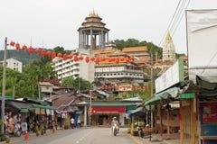 Kek-Lok-Si-tempel luft Hitam, Penang, Malaysia arkivfoton