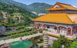 Kek Lok Si tempel på Pulau Penang i Malaysia royaltyfri fotografi