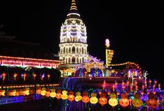 Kek Lok Si Tempel in Penang stockbilder