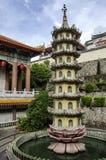 Kek Lok Si tempel som placeras i luft Itam i Penang, Malaysia arkivfoton