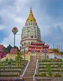 Kek Lok Si Temple är en buddistisk tempel som placeras i Penang, Mal arkivfoto