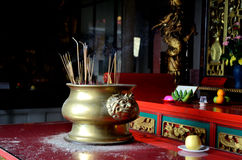 Kek Lok Si temple. Burning incense in Kek Lok Si temple in George Town, Penang, Malaysia Stock Photography