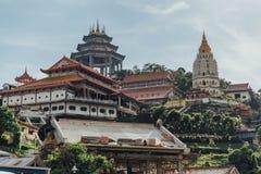 Kek Lok Si Temple bekeek van Lucht Itam in George Town Panang, Maleisië Royalty-vrije Stock Afbeeldingen