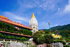 Kek Lok Si temple in Georgetown on Penang island, Malaysia Stock Photos