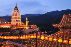 Kek lok Si temple light up Royalty Free Stock Images