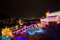 Kek Lok Si Temple, Penang ö, Malaysia royaltyfri bild