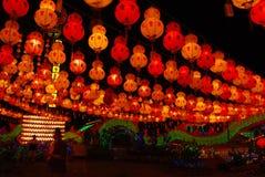 Kek Lok Si während des Chinesischen Neujahrsfests Stockbild