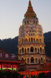 Keken Lok Si Temple arkivbild