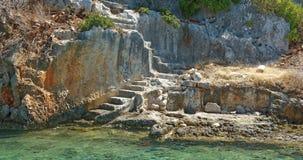 Kekova是在水下保存废墟o的海岛 免版税库存照片