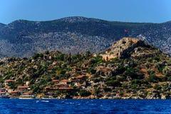 Kekova海岛,土耳其 免版税库存图片