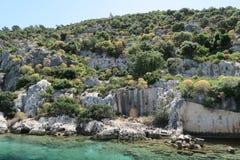 Kekova Island and the Ruins of the Sunken City Simena in the Antalya Province, Turkey Stock Photography