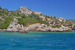 Kekova island, Turkey stock photos