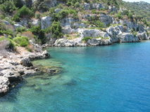 Kekova Island - Under Water City Stock Photography