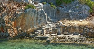 Kekova is an island that under the water preserves the ruins o Royalty Free Stock Photos