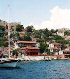 Kekova. Living part. Picture 1. This picture shows a living part of Kekova, the town at the Mediterranean seaside of Turkey. The otherone part of this towm Royalty Free Stock Photo