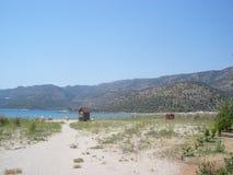 Kekova, Turquia - 14 de agosto de 2012: Kekova Praia pequena Imagem de Stock