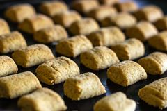 Keks gerade aus dem Ofen heraus stockbilder