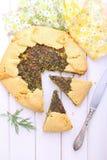 Keks mit Käse und Kräutern lizenzfreie stockfotos