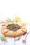 Keks mit Käse und Kräutern stockbilder