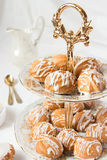 Keks mit weißer Schokolade Stockfoto