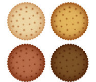 Keks-Plätzchen-Cracker-Sammlung Lizenzfreie Stockfotografie