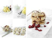 Keks-Rezept-Montage Stockbild