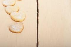 Keks-Valentinsgrußplätzchen des Herzens geformte Stockfoto