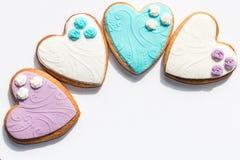 Keks-Valentinsgrußplätzchen des Herzens geformte Lizenzfreies Stockfoto