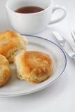 Kekse auf Platte Lizenzfreies Stockbild