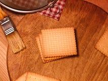 Kekse - butterbiscuits - Küche Lizenzfreie Stockbilder