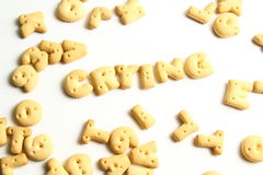 Kekse eines Alphabetes Stockfoto