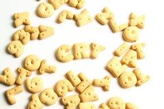 Kekse eines Alphabetes Lizenzfreies Stockbild