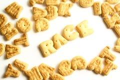 Kekse eines Alphabetes Lizenzfreies Stockfoto