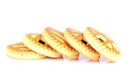 Kekse mit Cherry Jam Stockfoto