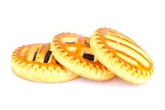 Kekse mit Cherry Jam Lizenzfreies Stockfoto