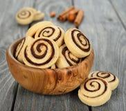 Kekse mit Schokolade Lizenzfreies Stockfoto