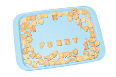 Kekse und lustiges lizenzfreies stockbild