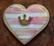 Kekse, welche die königliche Hochzeit gedenken Stockfotografie