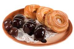 Kekskuchen-Süßigkeitsschokolade stockfotografie