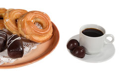 Kekskuchen-Süßigkeitsschokolade stockbild