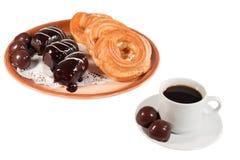 Kekskuchen-Süßigkeitsschokolade stockfotos