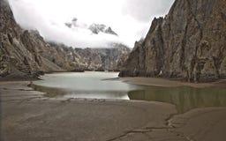 Kel-Suu lake. Naryn region, Kyrgyzstan Royalty Free Stock Images