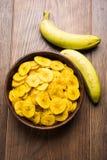 Kela или зажаренные бананом обломоки или вафли Стоковые Фотографии RF