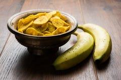 Kela или зажаренные бананом обломоки или вафли Стоковая Фотография RF