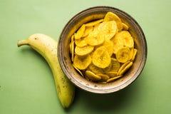 Kela или зажаренные бананом обломоки или вафли Стоковые Изображения