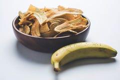 Kela или зажаренные бананом обломоки или вафли Стоковые Изображения RF