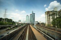 Kelana Jaya Line en Kuala Lumpur Foto de archivo